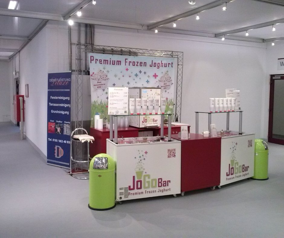 Frozen Yogurt Maschine - JoGoBar macht Ihr Event frisch und gesund