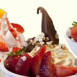 Frozen yoghurt essen - lassen sie sich überraschen